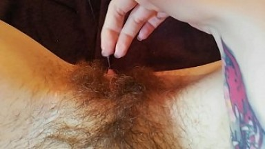 Hairy bush pussy big clit compilation close up